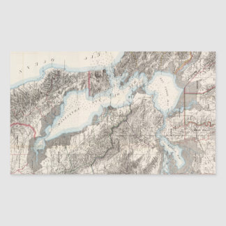 Vintage Map of The San Francisco Bay (1873) Rectangular Sticker
