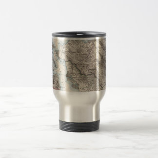 Vintage Map of The San Francisco Bay (1873) Travel Mug