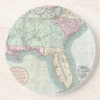 Us Map Drink Beverage Coasters Zazzle - Map of us 1806