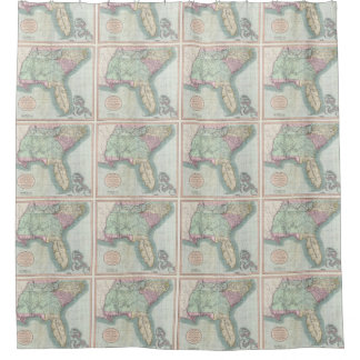 United States Map Shower Curtains Zazzle - 1806 map of the us