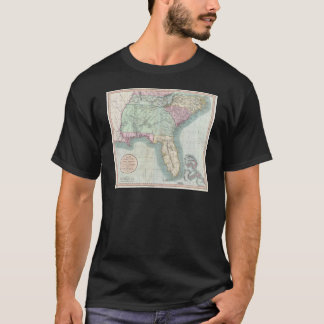 Vintage Map of The Southeastern U.S. (1806) T-Shirt