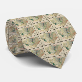 Vintage Map of The Texas Oil and Gas Fields (1920) Tie