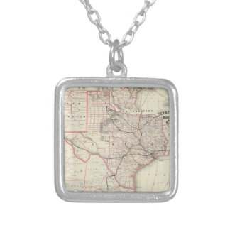 Vintage Map of The Texas Railroad System (1885) Custom Jewelry