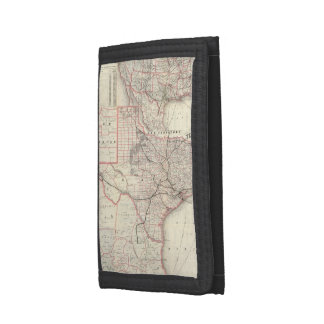 Vintage Map of The Texas Railroad System (1885) Trifold Wallet