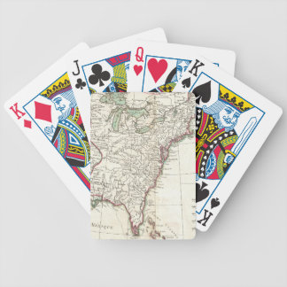 Vintage Map of The Thirteen Colonies (1776) Bicycle Playing Cards