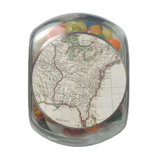 Vintage Map of The Thirteen Colonies (1776) Jelly Belly Candy Jar