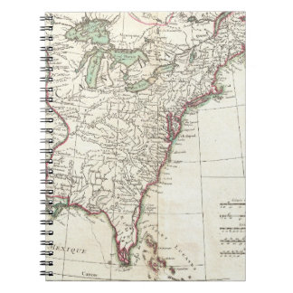 Vintage Map of The Thirteen Colonies (1776) Notebook