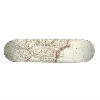 Vintage Map of The Thirteen Colonies (1776) Skate Board