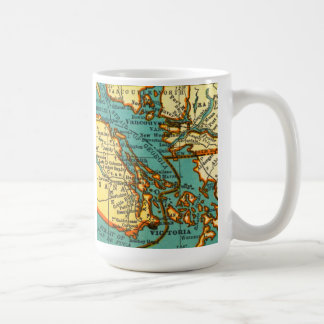 Vintage Map of the VANCOUVER CANADA Mug