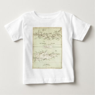 Vintage Map of The Virgin Islands (1853) Baby T-Shirt