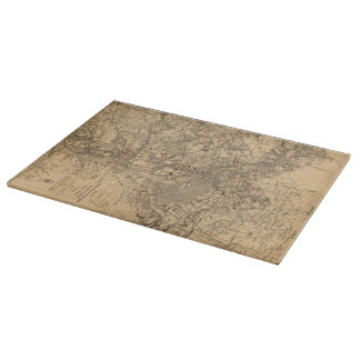 Vintage Map of The Washington DC Area (1865) Cutting Boards