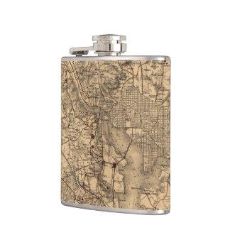 Vintage Map of The Washington DC Area (1865) Flasks