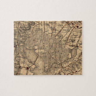 Vintage Map of The Washington DC Area (1865) Jigsaw Puzzle
