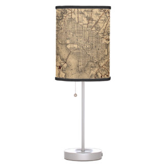 Vintage Map of The Washington DC Area (1865) Table Lamps