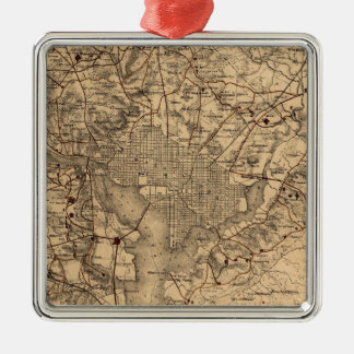 Vintage Map of The Washington DC Area (1865) Metal Ornament