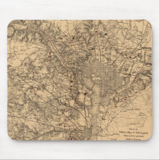 Vintage Map of The Washington DC Area (1865) Mouse Pad
