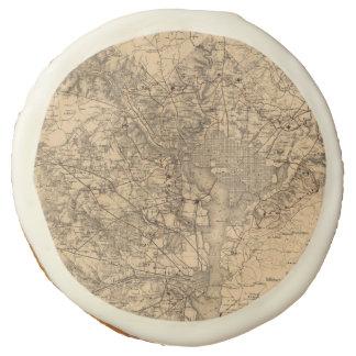 Vintage Map of The Washington DC Area (1865) Sugar Cookie