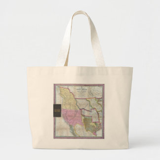 Vintage Map of The Western United States (1846) Jumbo Tote Bag