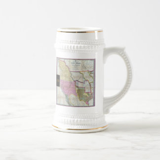 Vintage Map of The Western United States (1846) Beer Stein
