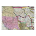 Vintage Map of The Western United States (1846) Greeting Card