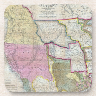 Vintage Map of The Western United States (1846) Drink Coasters