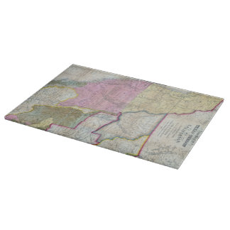 Vintage Map of The Western United States (1846) Cutting Board
