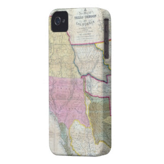 Vintage Map of The Western United States (1846) iPhone 4 Cover