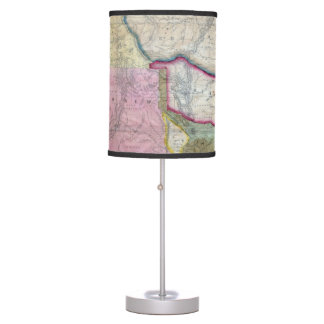 Vintage Map of The Western United States (1846) Desk Lamp