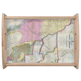 Vintage Map of The Western United States (1846) Serving Trays