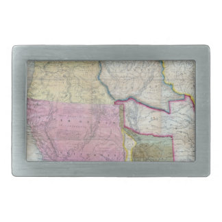 Vintage Map of The Western United States (1846) Rectangular Belt Buckle