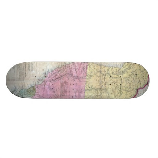 Vintage Map of The Western United States (1846) Skateboards