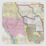 Vintage Map of The Western United States (1846) Square Sticker