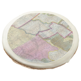 Vintage Map of The Western United States (1846) Sugar Cookie