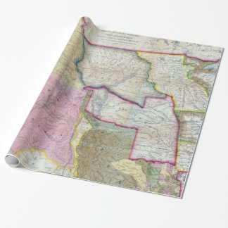 Vintage Map of The Western United States (1846) Wrapping Paper