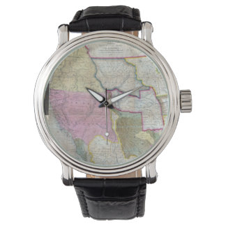 Vintage Map of The Western United States (1846) Wristwatches