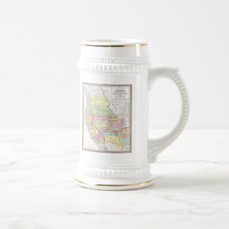 Vintage Map of The Western United States (1853) Beer Stein