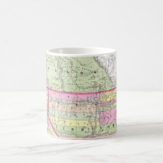 Vintage Map of The Western United States (1853) Coffee Mug