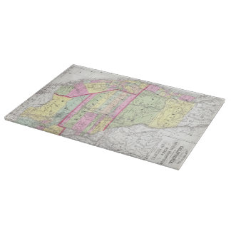 Vintage Map of The Western United States (1853) Cutting Boards