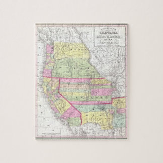 Vintage Map of The Western United States (1853) Jigsaw Puzzle