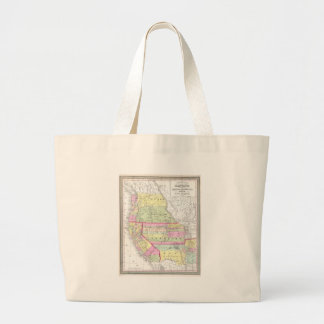 Vintage Map of The Western United States (1853) Large Tote Bag