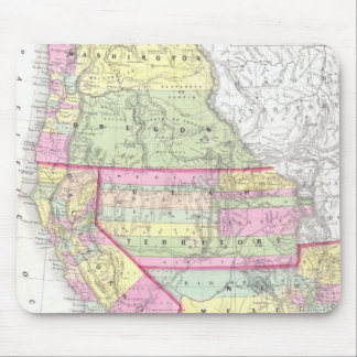 Vintage Map of The Western United States (1853) Mouse Pad