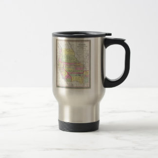 Vintage Map of The Western United States (1853) 15 Oz Stainless Steel Travel Mug