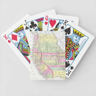 Vintage Map of The Western United States (1853) Bicycle Playing Cards