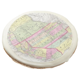 Vintage Map of The Western United States (1853) Sugar Cookie