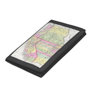 Vintage Map of The Western United States (1853) Tri-fold Wallets