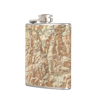 Vintage Map of The White Mountains (1937) Flask