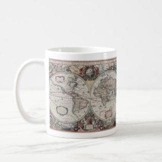Vintage Map of The World (1630) Coffee Mug