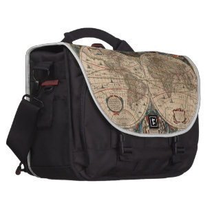 Vintage Map of The World (1641) Bag For Laptop