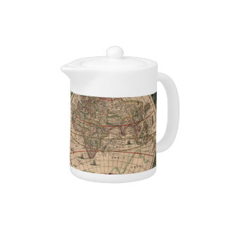 Vintage Map of The World (1641) Teapot