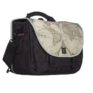 Vintage Map of The World (1680) Bag For Laptop